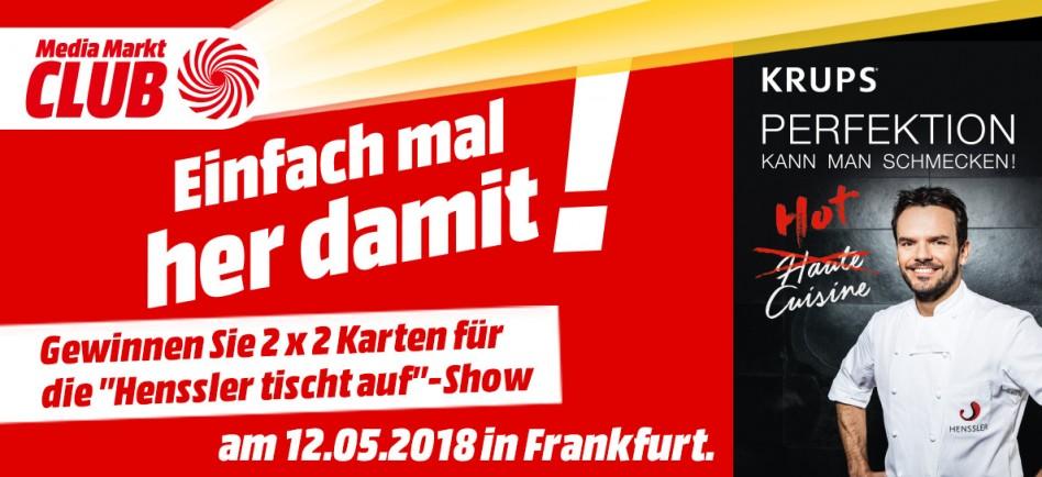 Gewinnen Sie 2x 2 Tickets Für Henssler Tischt Auf Mediamarkt Egelsbach